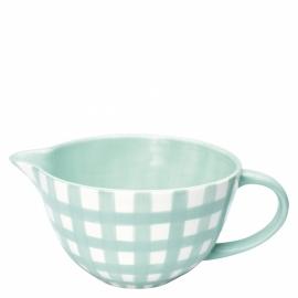 Greengate Stoneware Check Mint mixing bowl, large