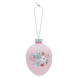 Greengate Egg ornament hanging Meryl pale pink