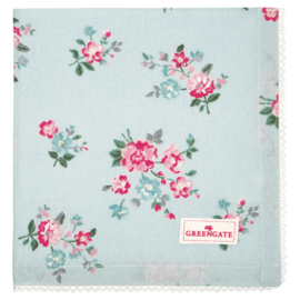 Greengate bread basket napkin Sonia pale blue