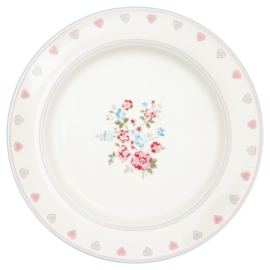 Greengate Stoneware Sonia white dinnerplate