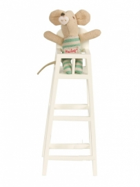Maileg high chair for xsmall baby, off white