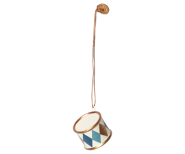 Maileg metal drum-hanger small, gold/blue