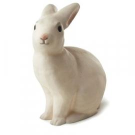 "figuurlamp ""konijntje grijs/wit"""
