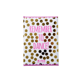 Rice Notebook A5 Gold dots
