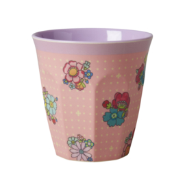 Rice melamine beker, flower stitch