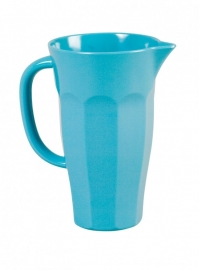 Rice melamine pitcher medium, turquoise