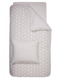 dekbedovertrek-set Dotty Spotty light grey
