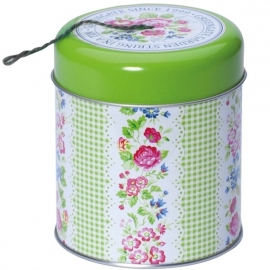 Greengate tin Garden w/thread jute