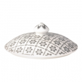 Greengate Stoneware Alba pale grey  lid