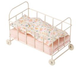 Maileg metal cot bed off-white, baby