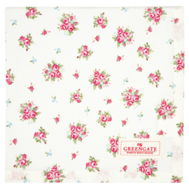 Greengate Tablecloth Abigail white 100x100cm