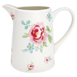 Greengate Stoneware Meryl white jug 1 ltr.