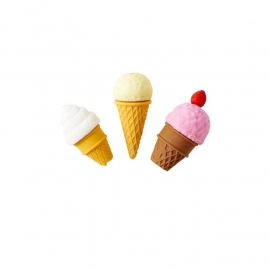 Rice Ice Cream Eraser, 3 assorti