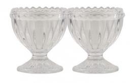 At Home set v. 2 eierdopjes glas