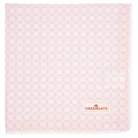 Greengate bread basket napkin Helle pale pink
