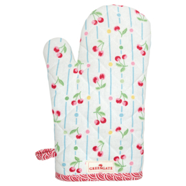 Greengate grill glove Cherry white