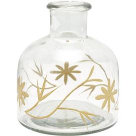 Greengate glass Vase Cutting gold medium