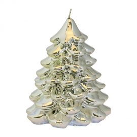Greengate Xmas tree silver candle