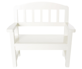 Maileg wooden bench off white