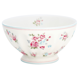 Greengate Stoneware Sonia white french bowl XLarge