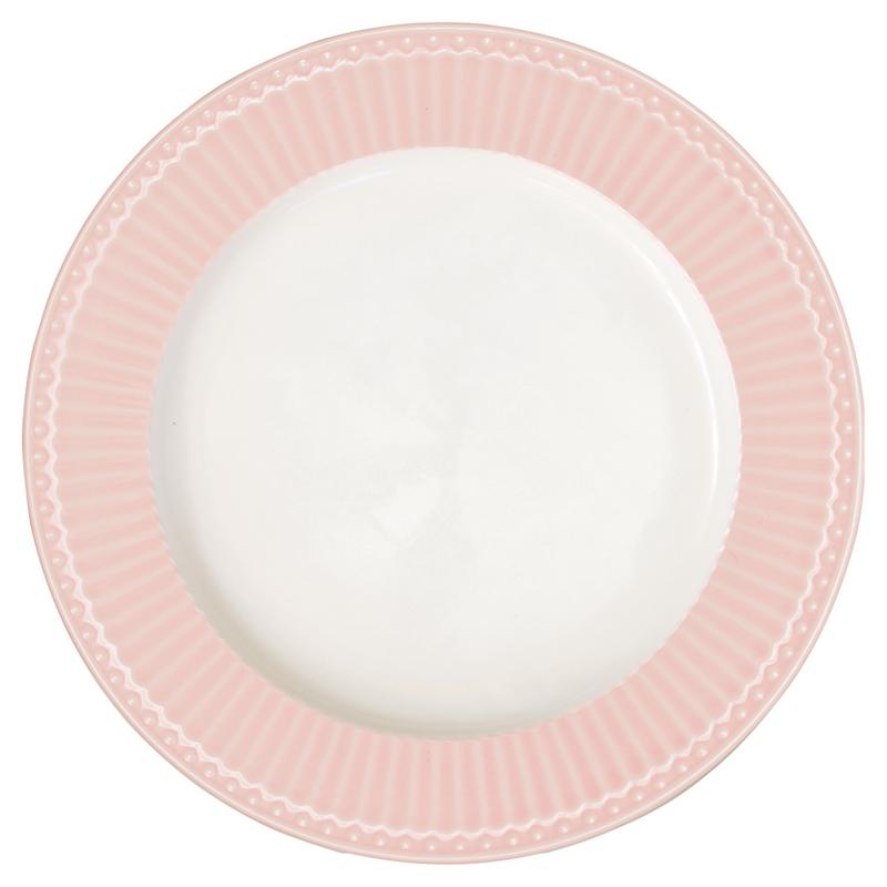 Greengate Stoneware Alice pale pink  dinnerplate