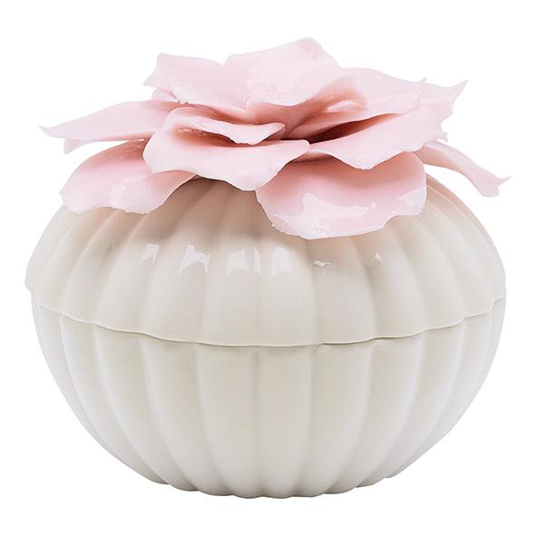 Greengate Ceramic jewelry box white large