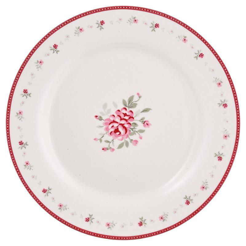 Greengate Stoneware Flora vintage plate