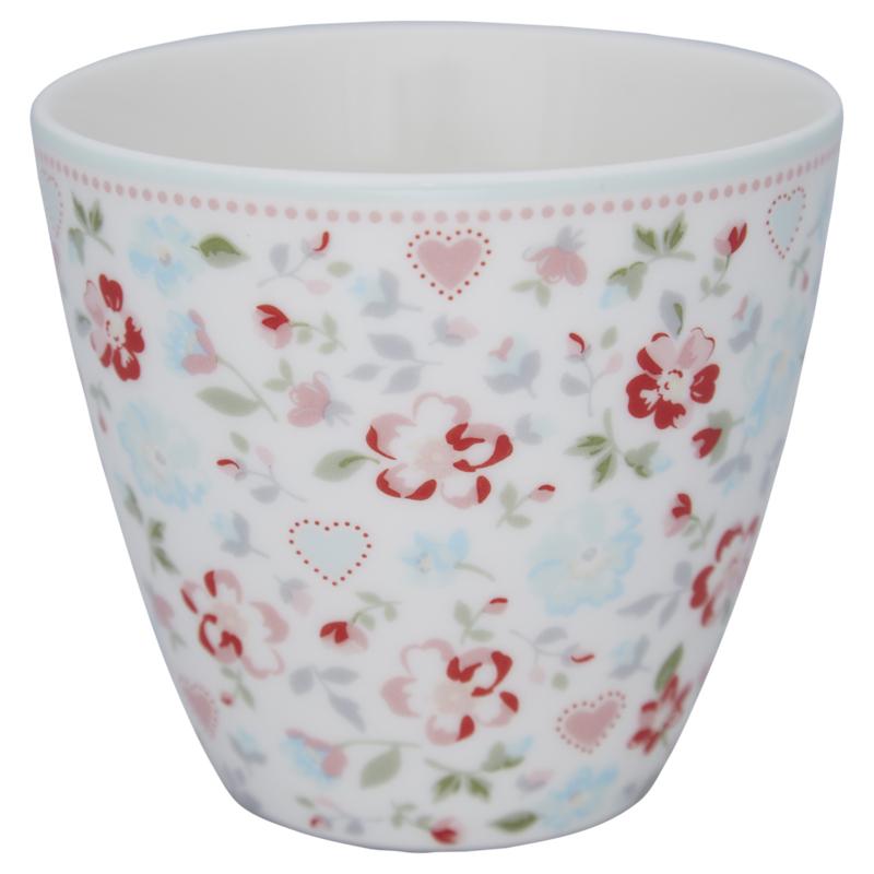 Greengate Stoneware Merla white latte cup