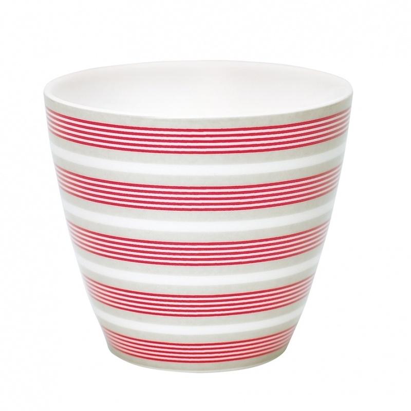 Greengate Stoneware Zoe linen latte cup