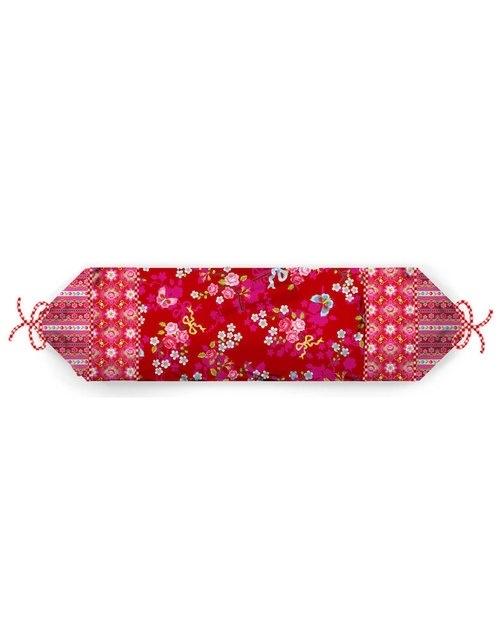 Pip Studio sierkussen neckroll Chinese blossom red