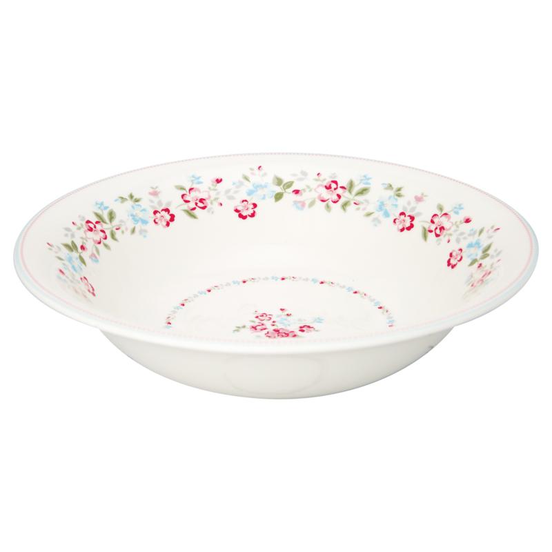 Greengate Stoneware Sonia white Salad bowl