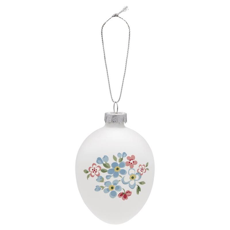 Greengate Egg ornament hanging Meryl white
