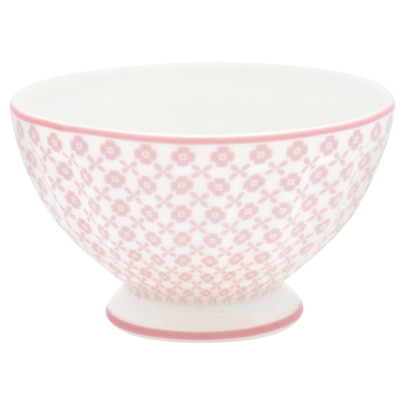 Greengate Stoneware Helle pale pink  french bowl small