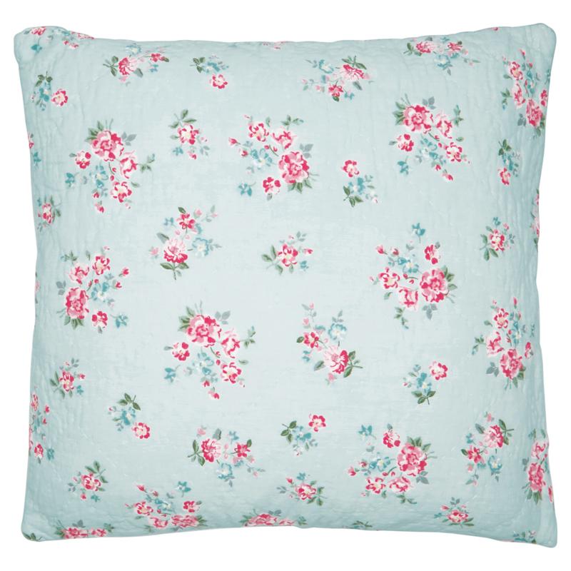 Greengate Cushion cover Sonia pale blue 50x50cm