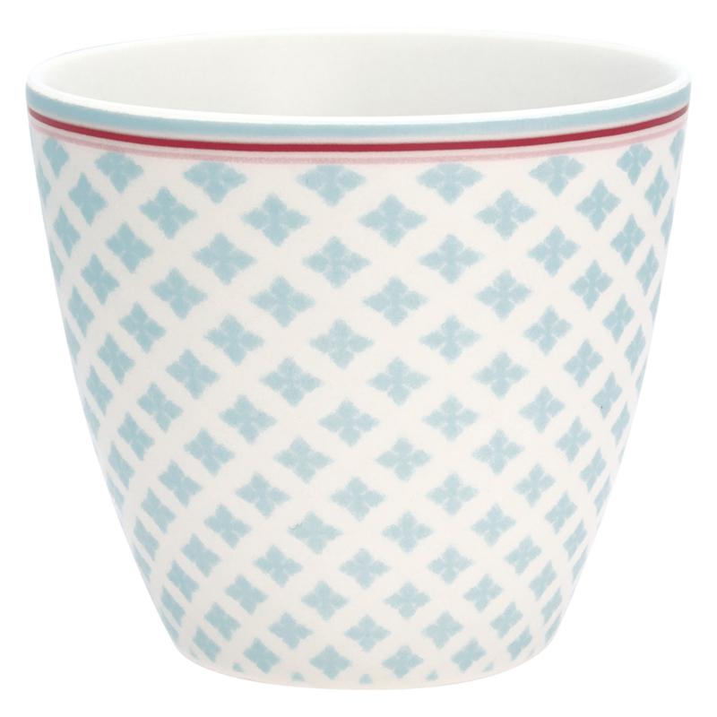 Greengate Stoneware Sasha blue latte cup