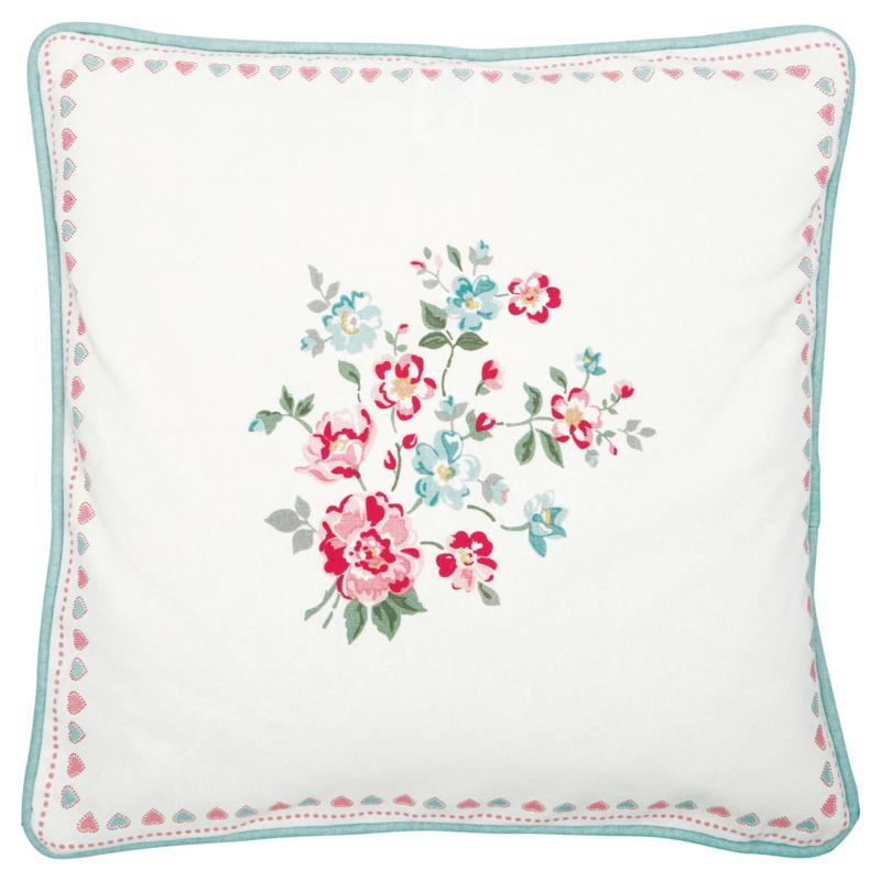 Greengate Cushion cover Sonia white pieceprinted 40x40cm