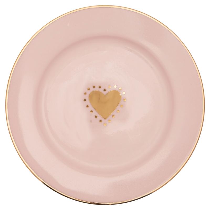 Greengate Stoneware Penny gold small plate