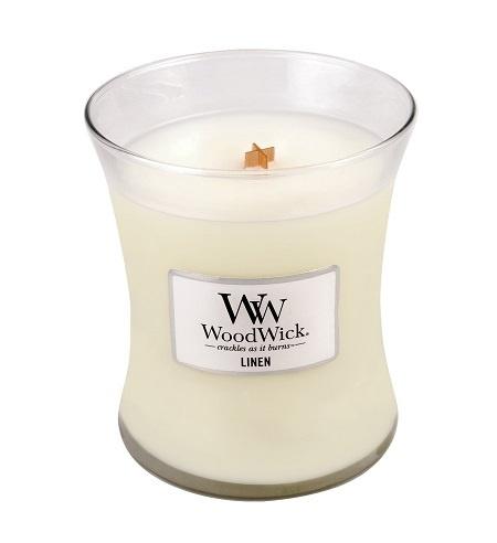 WoodWick® Linen Medium Candle