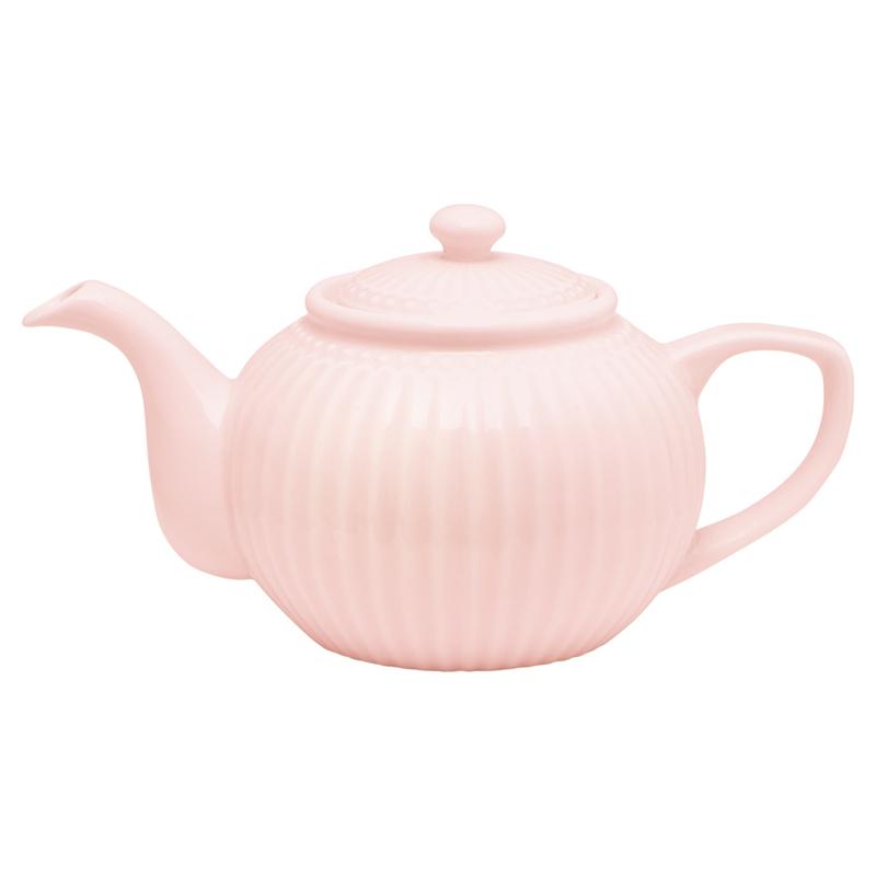 Greengate Stoneware Alice pale pink  teapot