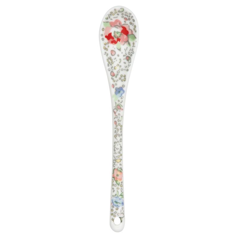Greengate Stoneware Vivianne white spoon