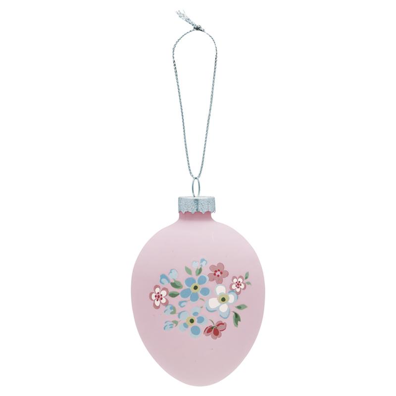 Greengate Egg ornament hanging Meryl pale pink