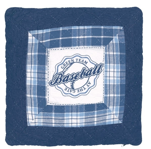 Greengate quilted cushioncover Baseball blue