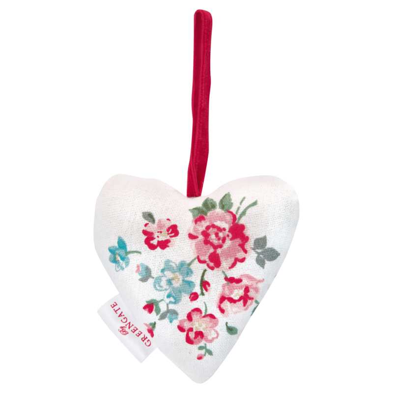 Greengate heart-hanger Sonia white 2 pcs