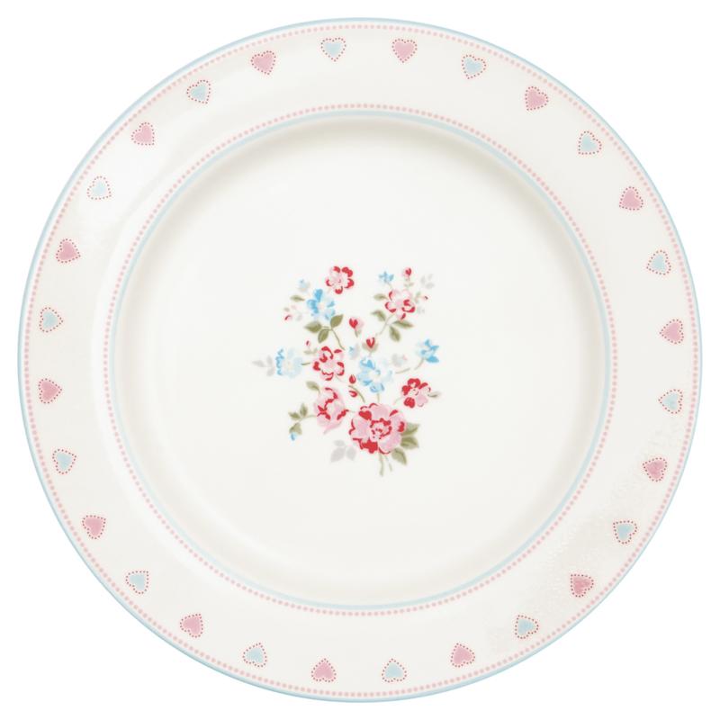 Greengate Stoneware Sonia white dinnerplate