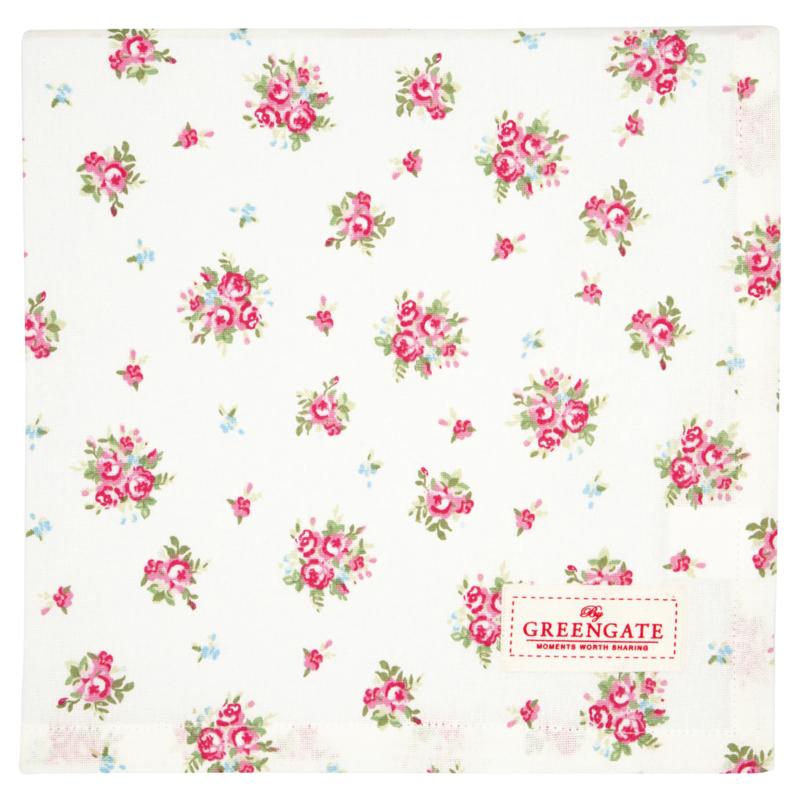 Greengate Tablecloth Abigail white 100x100cm