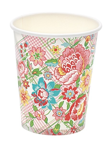 Greengate paper cups maggie white