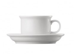 Thomas Trend Wit espressokopje ±0.10ltr  met schoteltje