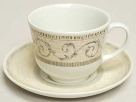 Johnson Acanthus Cream thee/koffie kop en schotel
