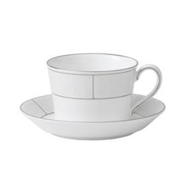 Wedgwood Shagreen thee/koffiekop en schotel
