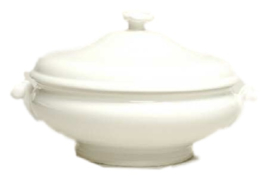 Wedgwood White China Dekschaal Globe (oud model)